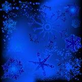 Disegni del fiocco di neve illustrazione di stock