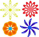 Disegni del fiore Fotografia Stock Libera da Diritti