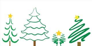 Progettazioni dell'albero di Natale Fotografie Stock