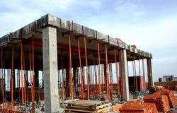 disegni della costruzione di edifici sotto fotografia stock libera da diritti