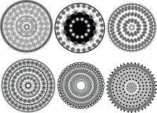 Disegni della mandala del hennè Fotografia Stock Libera da Diritti