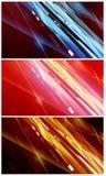 Disegni di flusso di energia e di dati fissati Fotografia Stock Libera da Diritti