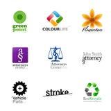 Disegni di marca moderni - insieme 2 Fotografie Stock Libere da Diritti
