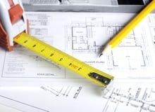 Disegni di pianificazione della costruzione Immagini Stock