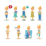 Disegni divertenti del fumetto di gravidanza Immagine Stock Libera da Diritti