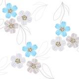 Disegni floreali fragili Fotografia Stock Libera da Diritti