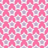 Disegni il fondo senza cuciture di rosa del modello della stella della siluetta di forma dell'illustrazione brillante di vettore Immagine Stock Libera da Diritti