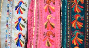 Disegni indiani del saree Immagini Stock