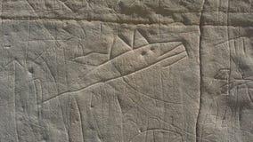 Disegni indigeni nella scrittura storica sulla pietra Immagine Stock Libera da Diritti