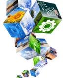 Disegni industriali astratti dei cubi Fotografia Stock