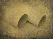 Disegni industriali dei meccanismi Fotografia Stock