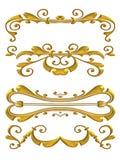 Disegni lucidi di Flourish dell'oro Immagine Stock Libera da Diritti
