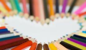 Cuore della matita Immagine Stock