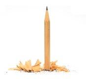 Disegni a matita in trucioli di legno Immagini Stock Libere da Diritti