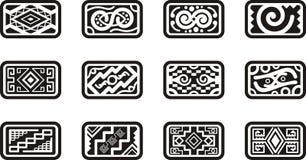 Disegni messicani del ornamental Fotografia Stock Libera da Diritti
