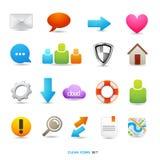 Disegni puliti dell'icona Immagine Stock