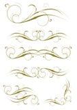Disegni squisiti della decorazione della pagina e del Ornamental Fotografie Stock
