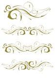 Disegni squisiti della decorazione della pagina e del Ornamental Immagine Stock