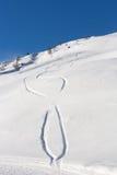 Disegni sulla neve Fotografie Stock Libere da Diritti