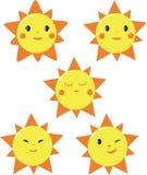 Disegni svegli di Sun Fotografia Stock Libera da Diritti