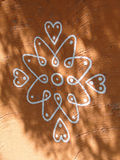Disegni tribali verniciati sulle costruzioni Fotografie Stock Libere da Diritti