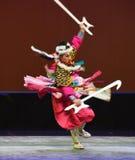 """Disegni un  del teenager†di Pechino Opera""""Yue dei alabarda-bambini Fotografie Stock Libere da Diritti"""