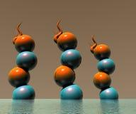disegno 0014 degli oggetti di marchio 3D Fotografie Stock