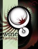 Disegno 2 del manifesto e dell'aletta di filatoio del vino Fotografie Stock