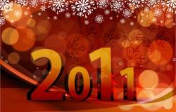 Disegno 2011 della priorità bassa di nuovo anno Fotografie Stock Libere da Diritti