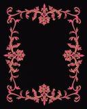 Disegno 3D del bordo ornamentale sul nero Immagini Stock