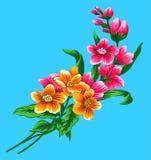 Disegno 5 del fiore Fotografie Stock Libere da Diritti