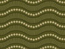 Disegno aborigeno di arte del puntino illustrazione vettoriale