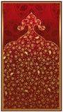 Disegno antico dell'oro dell'ottomano Fotografie Stock Libere da Diritti