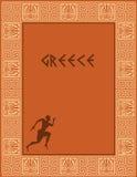 Disegno antico della Grecia Immagine Stock