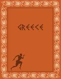 Disegno antico della Grecia Immagini Stock