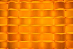 Disegno arancione chiaro dell'estratto della carta da parati del velluto Fotografie Stock