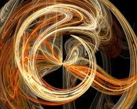Disegno arancione di burst dell'estratto Fotografie Stock Libere da Diritti