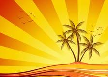 Disegno arancione di estate Fotografia Stock