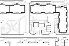 Disegno architettonico del paesaggio del fondo illustrazione di stock