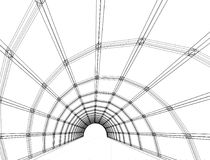 Disegno architettonico e prospettiva fotografie stock libere da diritti