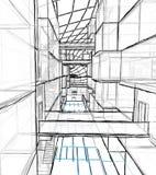 Disegno architettonico e prospettiva fotografia stock