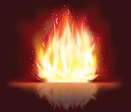 Disegno ardente del fuoco Immagine Stock