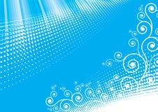 Disegno astratto blu Fotografia Stock Libera da Diritti