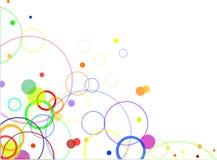 Disegno astratto con i cerchi di colore illustrazione vettoriale