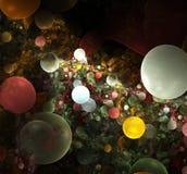 Disegno astratto con le bolle Fotografia Stock