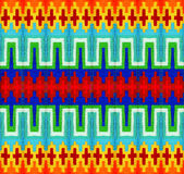 Disegno astratto con le linee e lo zigzag Immagini Stock Libere da Diritti