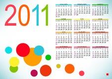Disegno astratto del calendario Fotografie Stock Libere da Diritti