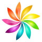 Disegno astratto del fiore Fotografie Stock