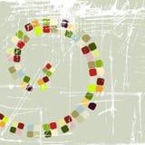 Disegno astratto del mosaico Fotografie Stock Libere da Diritti