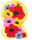 Disegno astratto del papavero Royalty Illustrazione gratis